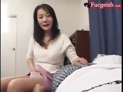 japanese housewife surprises napping guy with sex