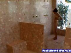 oriental blowjobs old stud in public shower