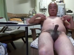 japanese old fellow pecker twitch to the touch