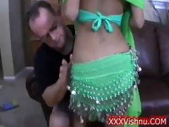 very marvelous indian gal in green costume