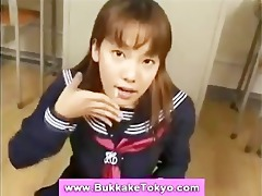 bukkake oriental cum loving floozy
