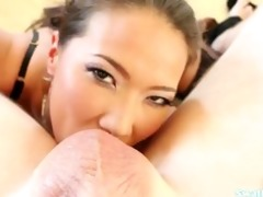 kalina ryu savagely deepthroats lengthy penis in