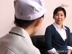 japanese nurses giving cook jerking to patients
