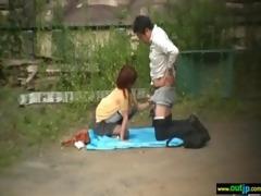 outdoor hardcore sex act with oriental beauties