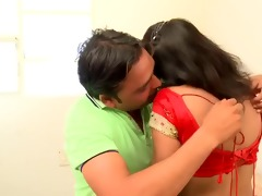 indian cute, hawt aunty teased by her bf