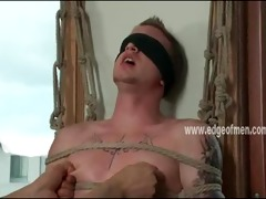 homosexual mmf serf acquires blindfolded