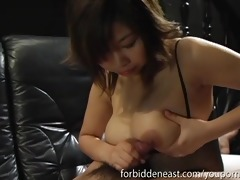 hawt oriental chick with large boobs give tit