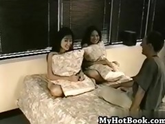 cindy and miya are lewd oriental chics who meet