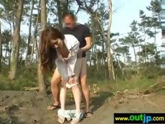 outdoor hawt cute asians acquire nailed movie-19