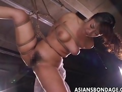 perverted oriental babe in thraldom acquires a