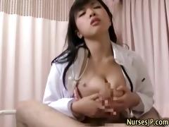 japanese oriental nurse oral-job and hard fuck