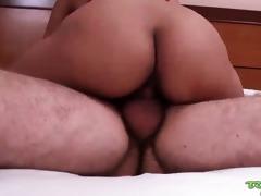 miniature tit oriental acquires cum on face