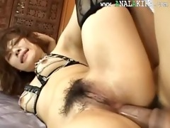 hawt chinese anal fucking with lingerie