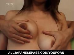 breasty aya kurosaki enjoys her body being oiled