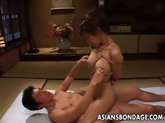 tempting oriental chick in servitude receives
