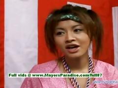 yuzuru japanese virginal oriental gal is talking