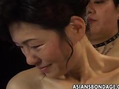 oriental chick in rope slavery scene