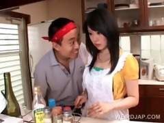 oriental housekeeper acquires hot assets teased