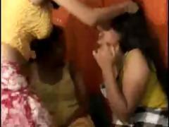 desi, indian, twosome to lesbian three-some