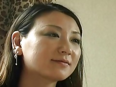excited japanese milf playing swee...