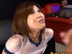 cute hottie pine shizuku receives cum drenched