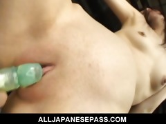 minami asaka lovely oriental babe is bound up in
