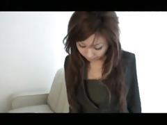 a woman office worker modeling as an amateur