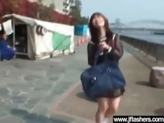 oriental whore angel flashing and fucking in