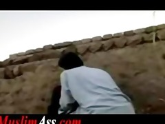 forbidden outdoor public sex by muslim pair in