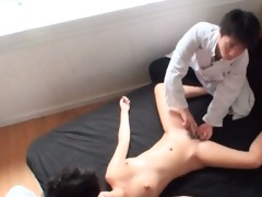 japanese enchanting horny hottie slit tickled in