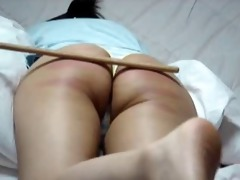 korean non-professional constricted spanked wazoo