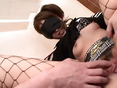 blindfolded angel rika kurachi having a blast