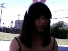 oriental transsexual outdoor didlo