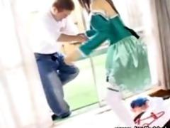 japanese legal age teenager sucks and tugs rod