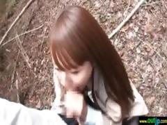 hawt oriental angel acquire hard nail in wild
