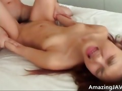 sexy japanese angel engulfing knob and receives