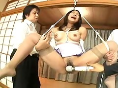 japanese office lady fastened up