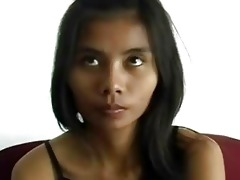 shy asian cutie receives filmed satisfying a