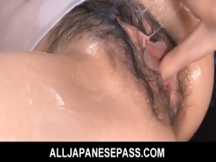 japanese babe karin tsubaki oiled up for sexy sex