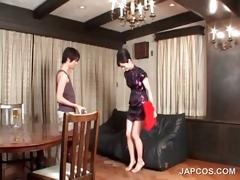hot oriental in geisha outfit acquires scones