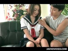 jap doll in school uniform vagina played in