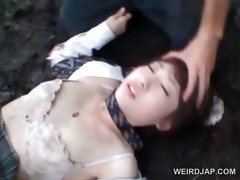 oriental schoolgirl receives sexually abased in