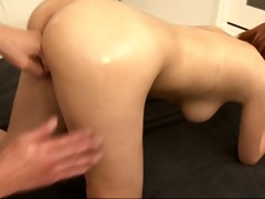wicked and sexually excited redhead bimbo gagging