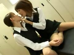 lesbo jap after work