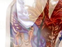 japanese anime nurse hard screwed by monster