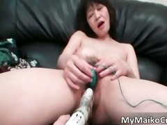 large boobed excited oriental bitch have sex tool