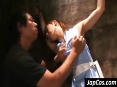 oriental villein receives bound up and punished