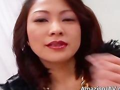 breasty japanese gal in underware sucking part7