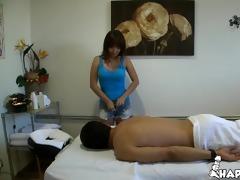 jade treats her client to a badass cock rub
