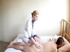 amwf white cutie masseuse interracial with